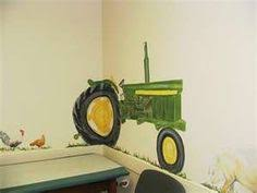 my brother in law painted this tractor mural for my 3 year old son