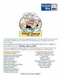 national association of letter carriers food drive united way of