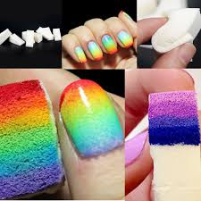 nail art painting sponge nails equipment simple diy change color