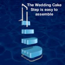 wedding cake pool steps finest wedding cake pool step pc pools