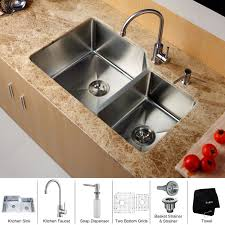 kitchen faucet and sink combo faucet khu123 32 kpf2160 sd20 in stainless steel by kraus