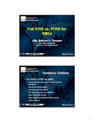 full pfrs vs pfrs for smes international financial reporting