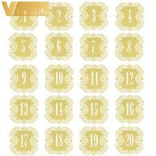 wedding table numbers 20pcs set wedding table number table cards 1 20 hollow laser cut