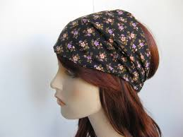 boho hair wrap black floral headband women s boho wrap hair bandana cotton