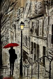 saatchi art the walk home drawing by loui jover