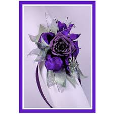 wrist corsages for prom purple on silver designer prom wrist corsage polyvore