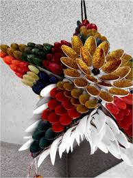 home decor made from recycled materials decorate your christmas tree doors and wall with these funky and
