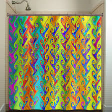 Bright Shower Curtain Shop Rainbow Colored Shower Curtains On Wanelo