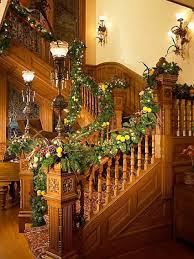 Home Decoration Sites Christmas Staircase Garland Ideas Best Design Idolza