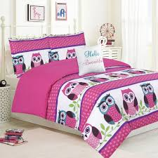 owl bedding for girls purple comforter twin twin 5pc girls horse comforter complete