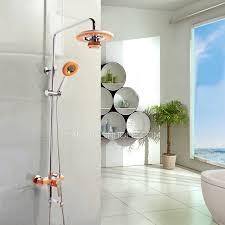 Outdoor Shower Fixtures Copper - high end orange bluetooth music copper shower faucet