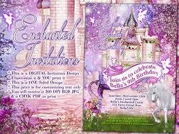 fairy unicorn mermaid party fantasy invitations unicorn