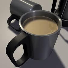 modern coffee cups mug tea cup 3d model