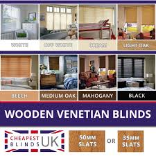 wooden venetian blinds ebay