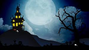 pictures of cartoon haunted houses a spooky background of a haunted house with a full moon in the