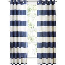 Blue Ticking Curtains Blue Striped Ticking Curtains Wayfair