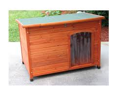 slant roof cedar dog house large