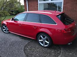 audi a4 avant s line red 2 0tdi multitronic fsh heated full s