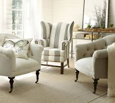 Pottery Barn Armchair Thatcher Upholstered Grey Wingback Chair Http Rstyle Me N
