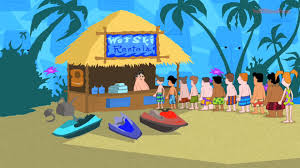 phineas and ferb backyard beach song youtube