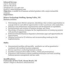 Architect Resume Sample Business Architect Resume Artlip Senior Enterprise Business