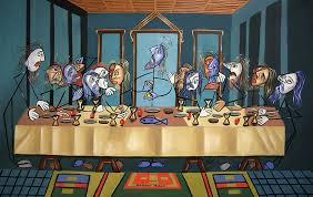 the last supper painting the last supper by anthony falbo