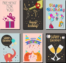 Birthday Card Ai Birthday Card Covers Templates Multicolored Icons Design Free
