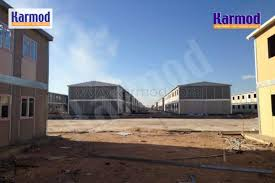 prefabricated houses al iraq caravans porta cabins steel structure