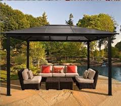 Pergola Top Ideas by Outdoor Patio Furniture Gazebo Pergola Hard Top Cover 10x13 Tent