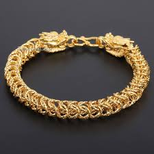 bracelet clasps gold images Davieslee 7mm shiny womens chain ladies girls dragon head franco jpg