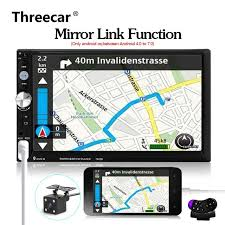 mirror link android 2 din android car radio 7023b mirror link 7 touch screen auto