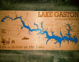 outdoor world lake gaston map map kerr lake etsy