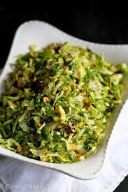 shredded brussels sprouts recipe w pistachios cranberries parmesan