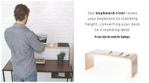 stand up desk pro converts your desk to a standing desk
