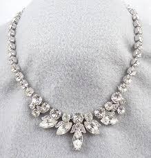 silver rhinestone necklace images The aesthetics of rhinestone necklace jpg