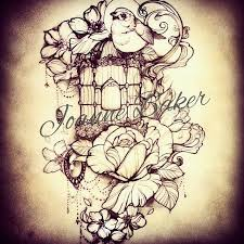 Flower And Bird Tattoo - 52 best permanent ink images on pinterest drawings bird cage