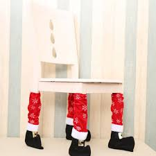 chair foot covers warm santa claus leg chair foot covers lovely table decor
