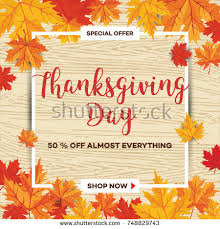 template thanksgiving day sale discount banner stock vector