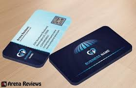 Business Card With Qr Code Free Blue Corporate Business Card Template Download