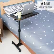 adjustable movable laptop table 360 degree rotate mobile laptop table multipurpose movable bedside