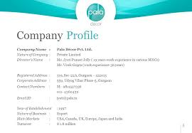 Home Decor Company Names Company Profile About Pala The Promoters At Pala Have A Combined