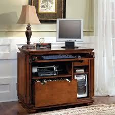 Small Corner Computer Armoire Desk Orchard Hills Small Wood Computer Desk With Hutch In Oak