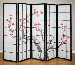 5 panel room divider beautiful cherry tree design shoji room dividers screens u2013 room