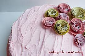 paper flowers cake decoration