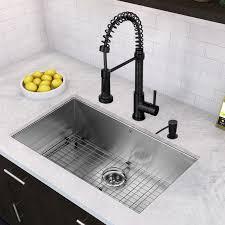 black faucet kitchen vigo 32 inch undermount single bowl 16 stainless steel
