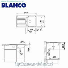 Lantos Stainless Steel Kitchen Sinks BLANCO Lantos S Stainless - Kitchen sink pop up waste