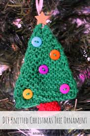 diy knitted tree ornament
