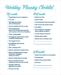 wedding checklist sle wedding checklist 8 exles in pdf