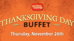 golden corral thanksgiving menu 2015 dinner hours prices