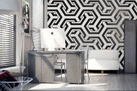 tapisserie bureau oser une ambiance ultra design grâce au papier peint 3d